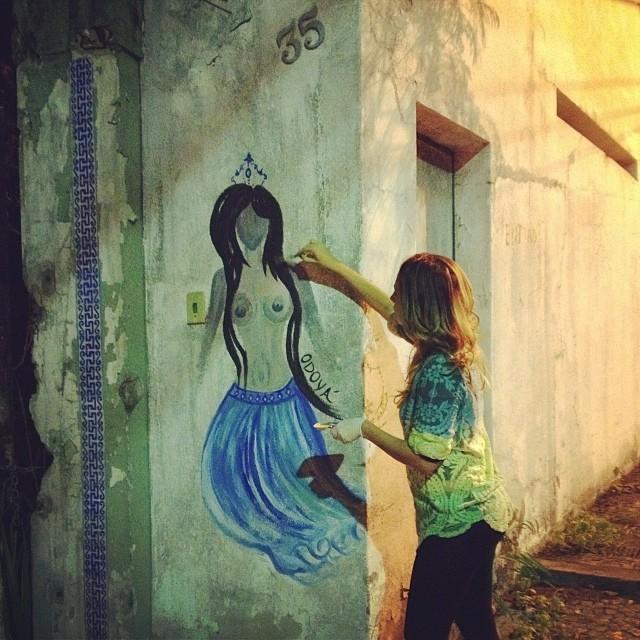 Odo!!! #yemanja #orixas #odoya #streetartrio #santateresa
