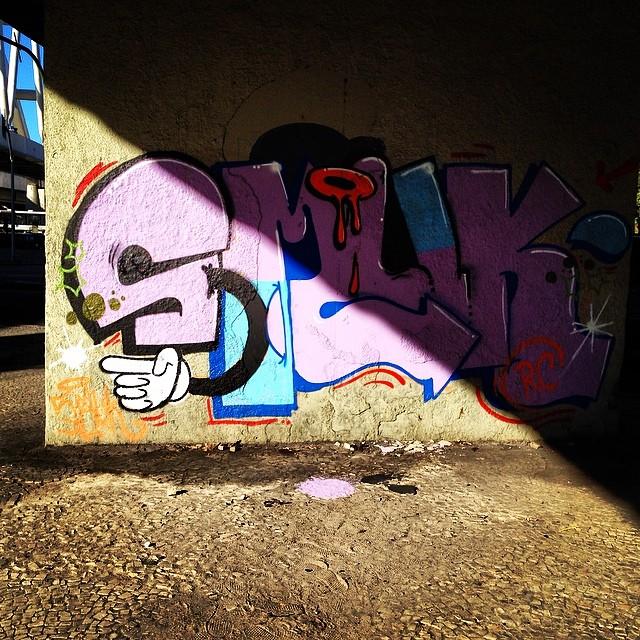 Papum! De passagem. #instagrafite #graffiti #graffitirj #vandalart #StreetArtRio