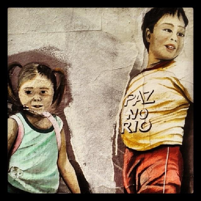Paz no Rio #streetartRio #santateresa #rj