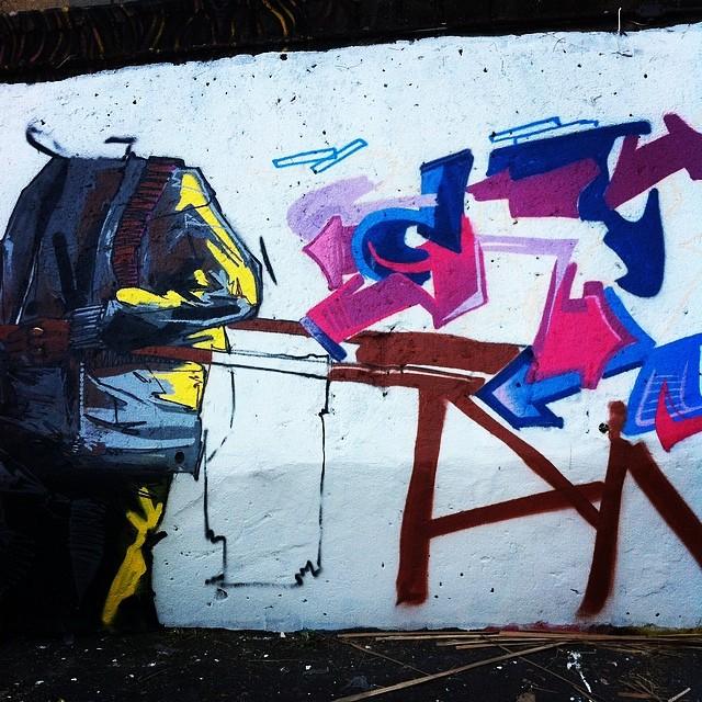 Ta rolando + ou - assim a pintura. #mafia44 #graff #graffiti #graffitirj #streetartrio #instagraffiti