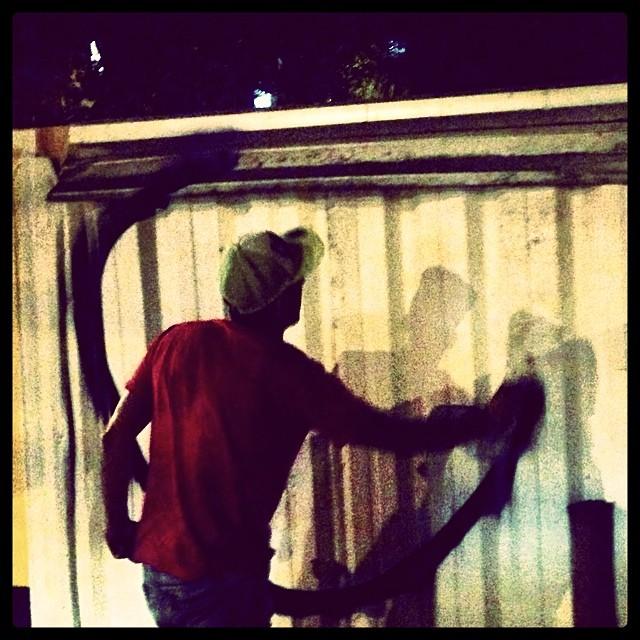 #action #djonereal #streetart #streetartrio #graffiti #jb @marygirlstyle