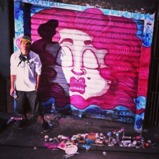 #graffitirj #graffiti #streetart #streetartrio #brazil #favela #dendê Primeira tapu que pintei no morro do dendê...