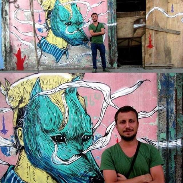 #riodejaneiro #rio #StreetArtRio. #cucubaou #nicolaeNegura #art #street #Wolf #rabbit. #bunny #colors