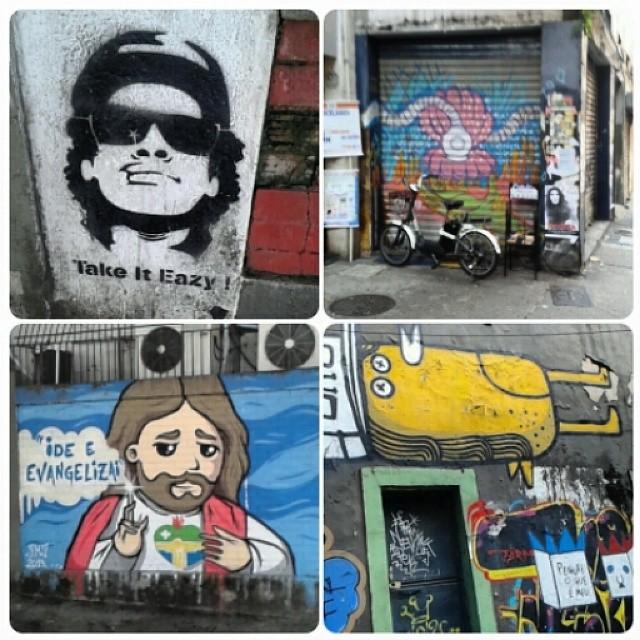 Day 3 More art love on the streets of Rio! #artloverio #streetartrio