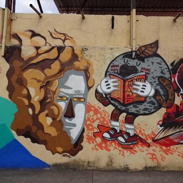 Graffiti wall by @ecsuecsu and @viniciuscarvas . #carvas #NRVO #riostreetart #streetartrio #urbanart #graffitiart #streetart #artederua #arteurbana #graffitibrasil #riodejaneiro