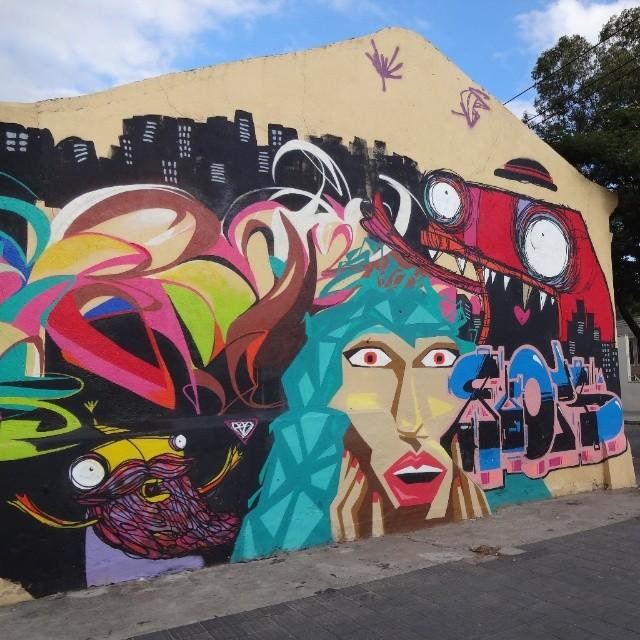 Graffiti wall by @rafocastro , @randalbonezl , @bellasamaral and @flooooooops . #riostreetart #streetartrio #urbanart #graffitiart #streetart #artederua #arteurbana #graffitibrasil #riodejaneiro