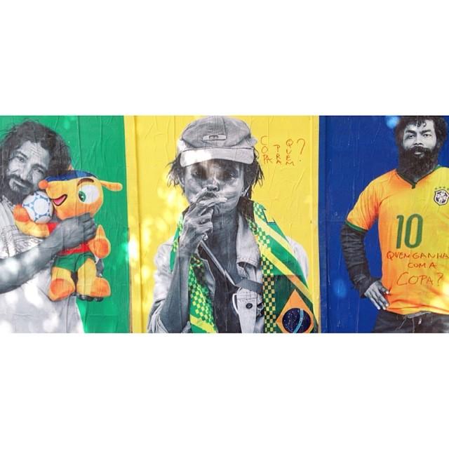 Não teve copa #tevefome #tevearte #arte #arteurbana #streetart #riodejaneiro #centro #copa #fifagohome #rioetc #rio