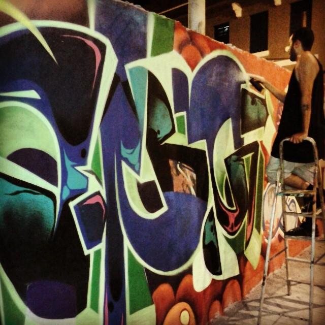 Noite! @angkvk #kovokcrew #graffiti #streetartrio