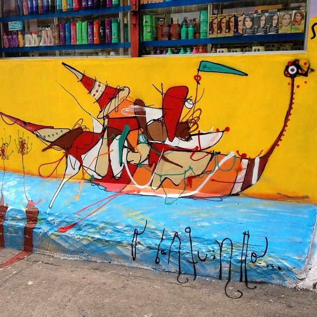 O barquinho, Rocinha 2014. #smael #smael13 #streetartrio