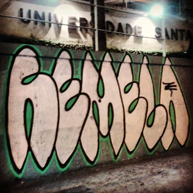 Rua Pinheiro Machado. USU #streetart #streetartrio #graffiti #bomb