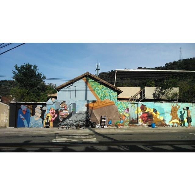 Segundo Round, com @marcelozissu #streetart #streetartrio #graffiti #ocupacopa #horto #marcelozissu #heitorcorrea #novecinco