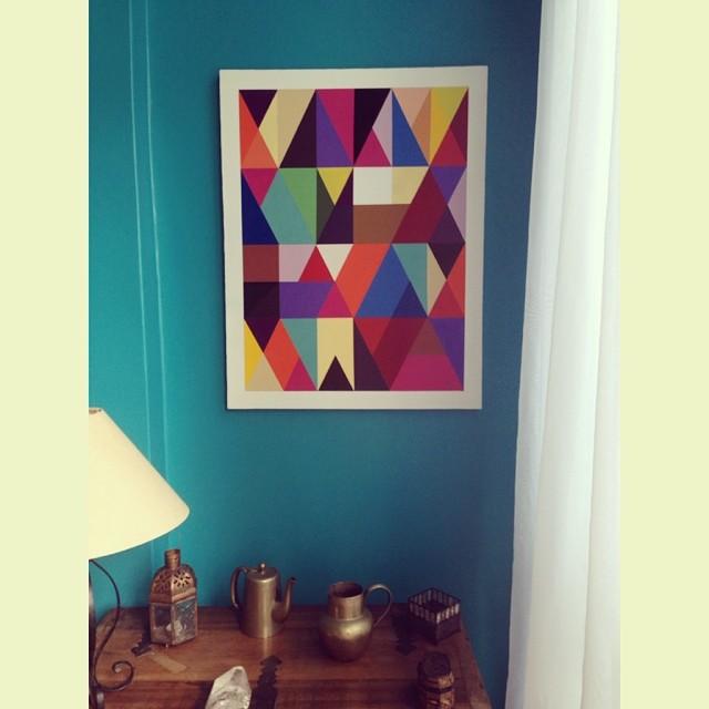Spray s/ tela 70x90cm 2014  #tela #cores #colors #canvas #art #arte #graphic #geometric #design #indoor #spray #streetartrio #mga #rj #riodejaneiro #2014