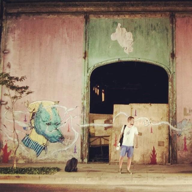 #StreetArtRio. #streetart #rio #Brazil. #cucubaou #nicolaeNegura #illustrator #art #mural