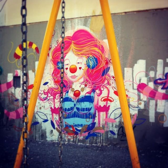 #spam #viniciusspam #clown #circus #iloveclowns #graffiti #painting #spraypainting #collors #streetartrio #streetart #worldart #instagraffiti #instaart #artrio #2014