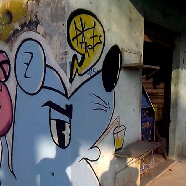 #streetArtRio #ratimblu