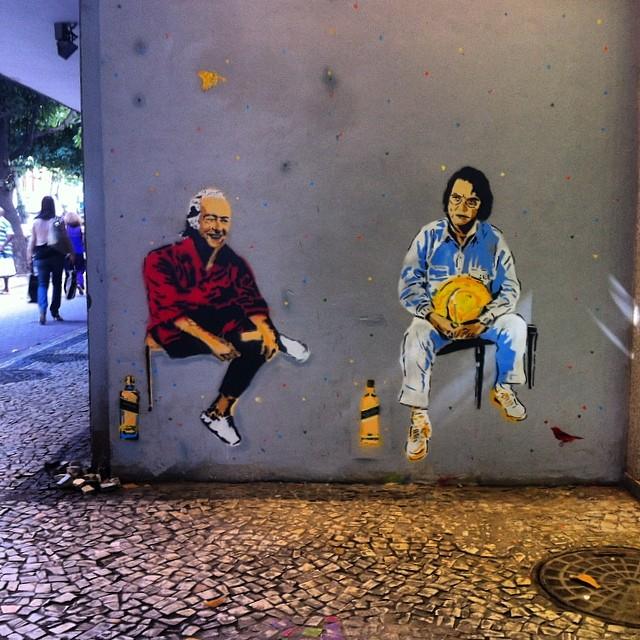 #streetart #streetartrio #stencil #ipanema #tomjobim #viniciusdemoraes #jobim #tom #bossanova #bossa