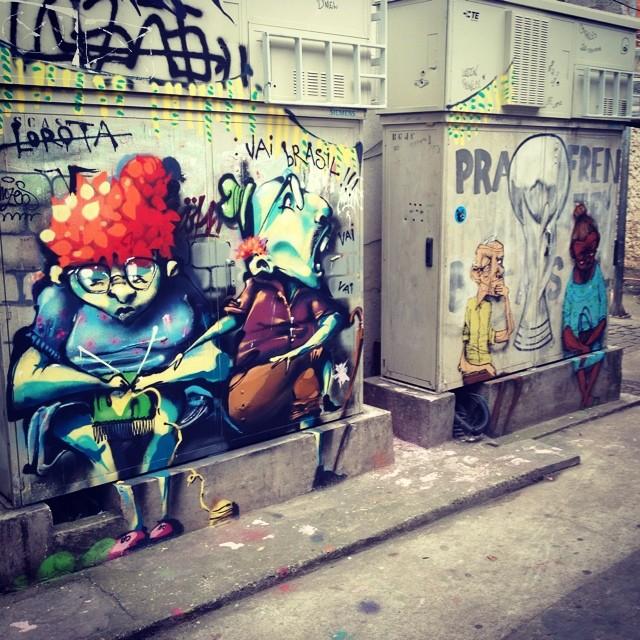 @tarm1 e @paulo_ito no Vidigal... Vai Brasil!!! #streetartrio