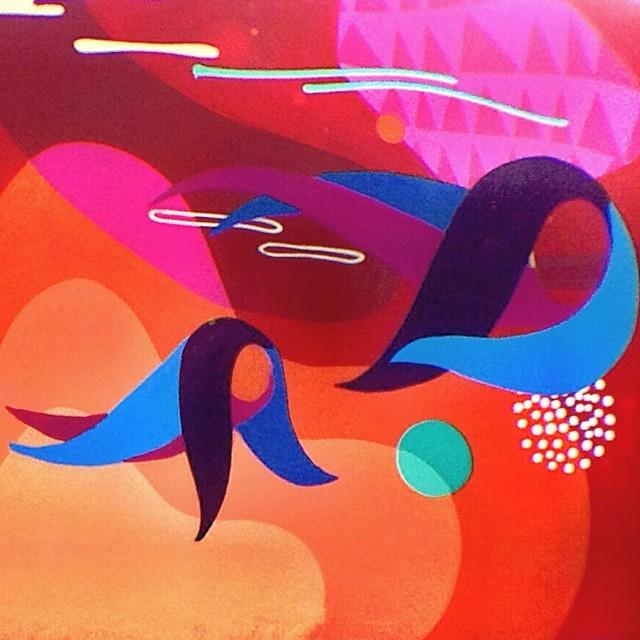 Detalhe da pintura no Jockey, do artista @piafbc