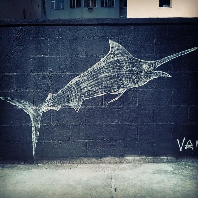 Marlin Stencil wireframe A.k.a VENOM #StreetArtRj #Stencil #StreetArtRio #VENOM #wireframe