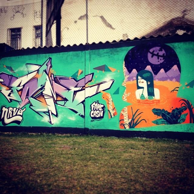 Nrvo!! @betofame #nrvo #streetartrio #riodejaneiro #brasil #graffiti #fresh #colors #chilling #chill #viniciuscarvas #carvas #aeg