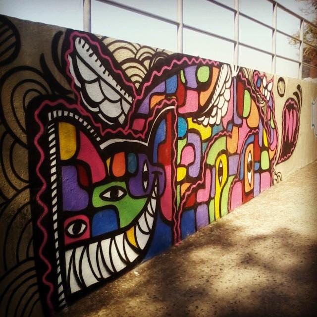 Olhos de Picasso. #oqueasruasfalam #instagrafite #grafitti