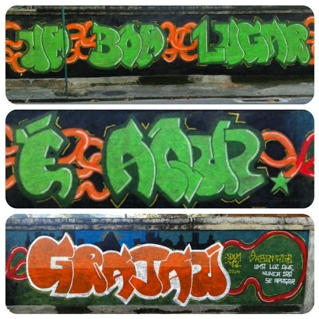 Um Bom Lugar é Aqui. Grajaú #dum #instagrafite #graffiti #montana94 #artederua #arteurbana #graffiticarioca #streetart #streetartrio #arteruario #grajau #sabotage