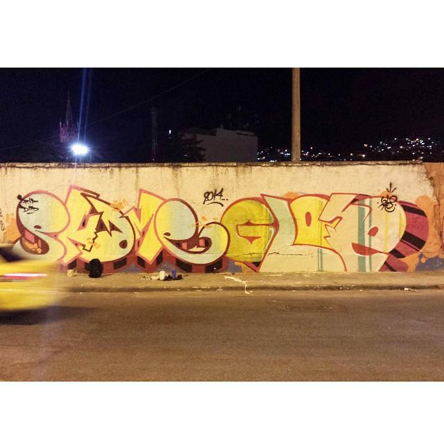@justinphame@gloyebzrj #graffiti #streetart #streetartrio #tags #phame #brazil