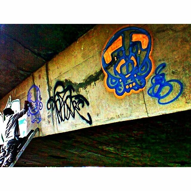 @sockppxi #djonereal #action #oldpic #streetart #streetartrio #graffiti