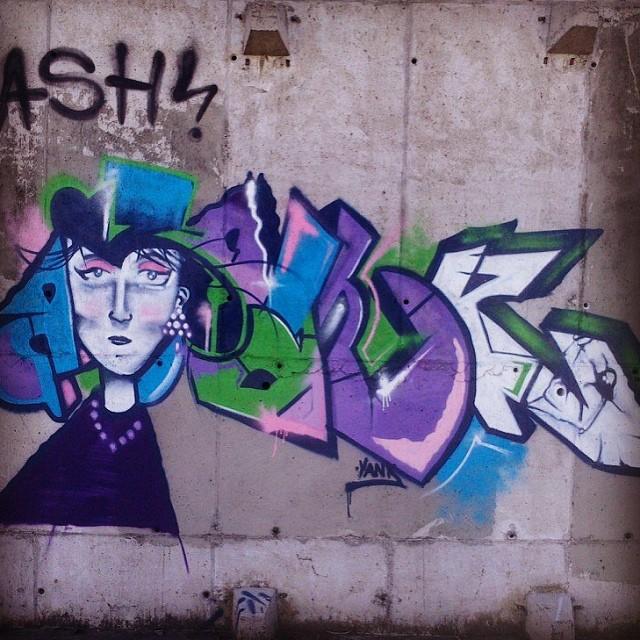 A um tempo atrás! #instagraff #instagrafite #streetartrio #streetrio #galeriaaceuaberto #cariocarte #vandal #graffiti #urbanart #ryank