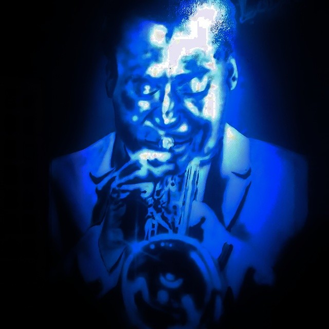 Can you feel the blues? #art #StreetArtRio #streetart #grafiti #music #blues