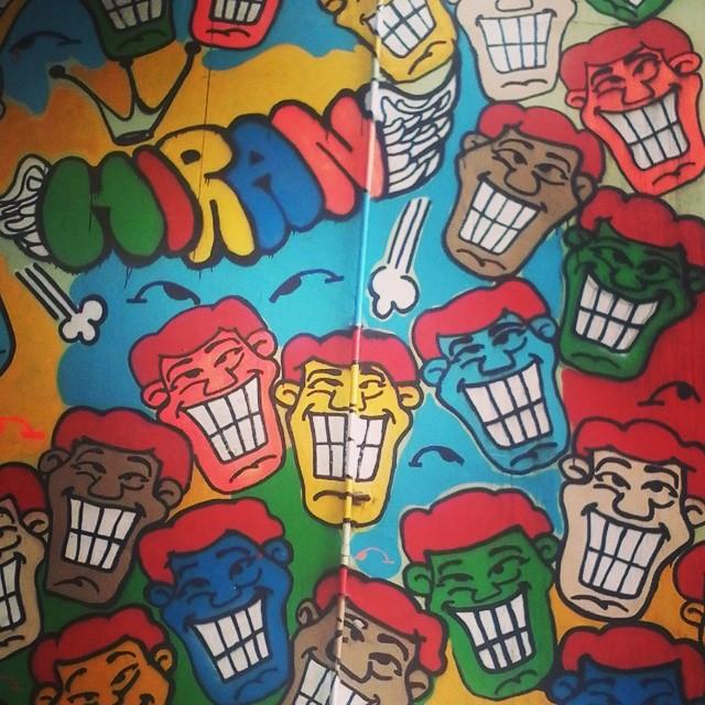 =D #streetart #streetartrio #hiran #grafitti