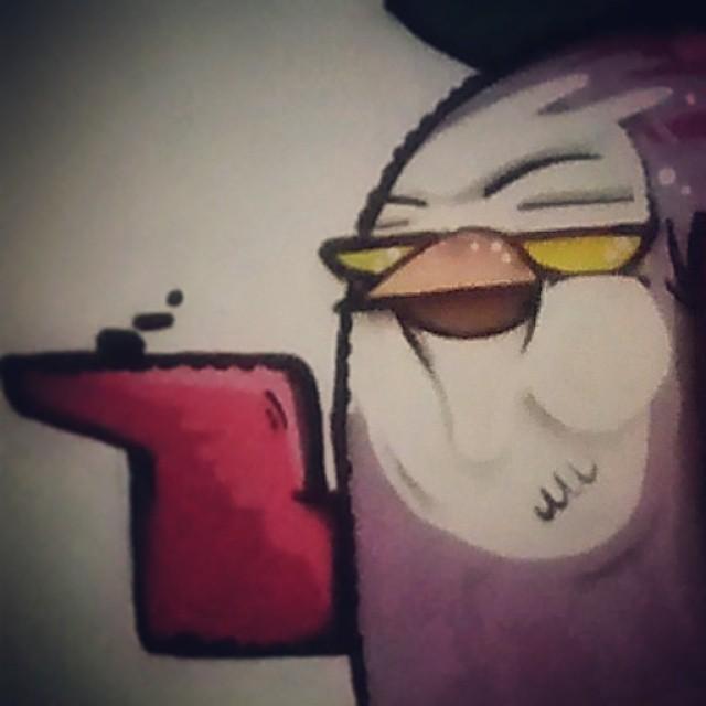 DEGASE pimp bird #biveselecta #elninhocrew #streetartrio #graffitirj #art