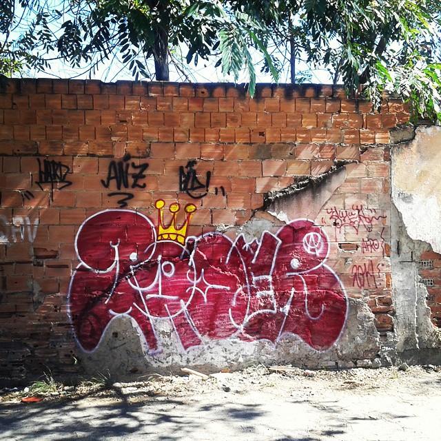 Domingo logo cedo. #ruasdazn #streetartrio #artistasurbanoscrew #estiloriginal #tagsandthrows #bomberj #vandal #carreirasolo #iapidapenha630