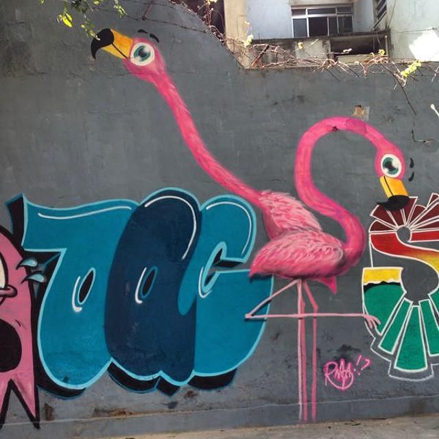 E na pintura de ontem o resultado foi esse. Destaque para o amigo #BAC. Fomos convidados pelo #Luk e ainda pintamos com o #Gut . Só alegria. #trapacrew #rafa #rafagraffiti #grafite #graffiti #streetartrio #vilaisabel #streetart #rosa #pink