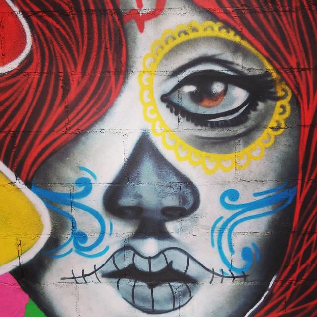 Freehand #leandroice #mexicanskull #streetartrio #instagrafite