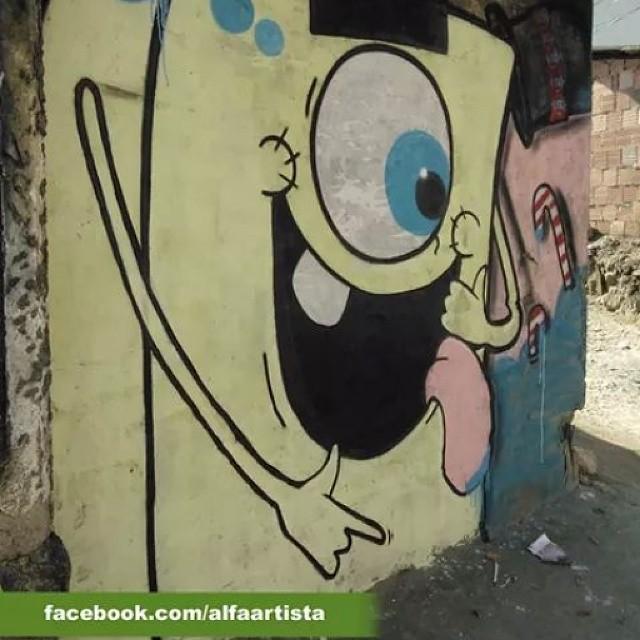 #Grafite #Personagem #Clop #Cyclope #Alfa #AlfaArtista #StreetArtRio Técnica utilizada - tinta PVA e spray s/ parede Fan Page -https://www.facebook.com/AlfaArtista Portfólio -http://alfaartista.daportfolio.com/