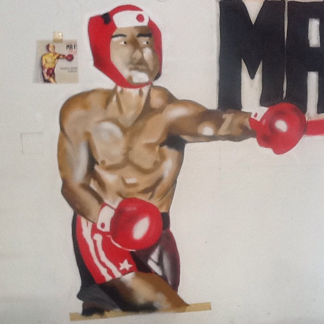 Painel boxe graffiti - sem filtro. #ilovebombing #streetartrio #street #art #brazil #graffiti #instaart #spray #riodejaneiro #rj #instagraffiti #graffiti #graffite #artederua #art #artist #urbanart #graffitibrazil #graffitebrazil #loveart #spraypaint #streetart #freestyle #graffitirj #graffrio #rua n #hiphop