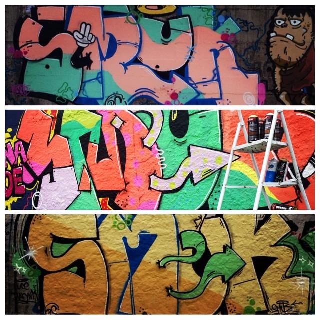 Smuk #smuk #streetartrio #graffitirj #graffiti #vandalart #colors #rc