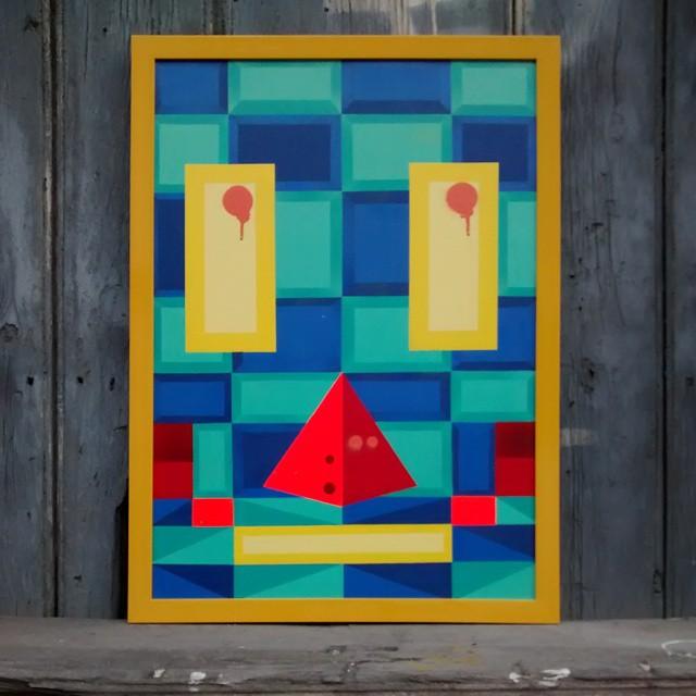 Spray sobre tela. TAM: 75 x 55. #kaduori #spray #art #canvas #decoracao #designinteriores #molduras #arte #streetartrio #streetart #graffiti #urbanart #instagraffite #instaart #arteurbana #mtn #paint #cores