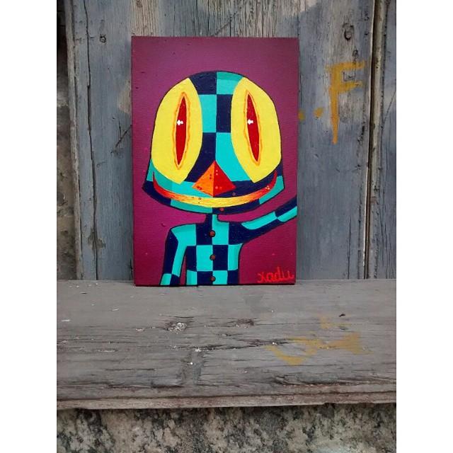 Tela 20 x 30. #canvas #art #arte #personagens #kaduori #telas #streetart #streetartrio #graffiti #grafiterj