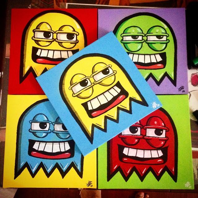 Testando novas cores nos quadros! #streetartrio #trapacrew