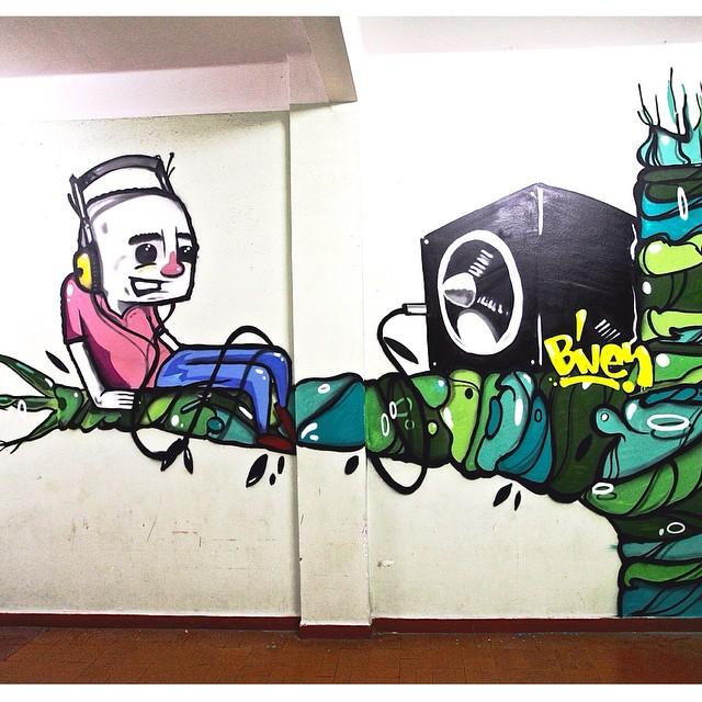 Work by @bivup at Hotel da Loucura