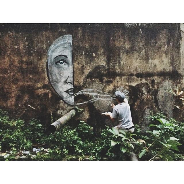 Work in progress • Mente Aberta na Favela dos Guararapes - Rio de Janeiro #streetartrio #pngone #instagrafite