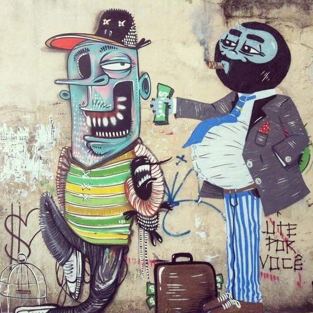 #old with my brother @nhobigraffiti #lapa #streetart #streetartrio #mafia #trafico