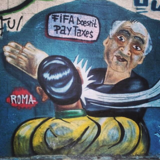 #rio #streetartRio #vilaisabel #fifa #рио #риоарт #стритартРио #футбол