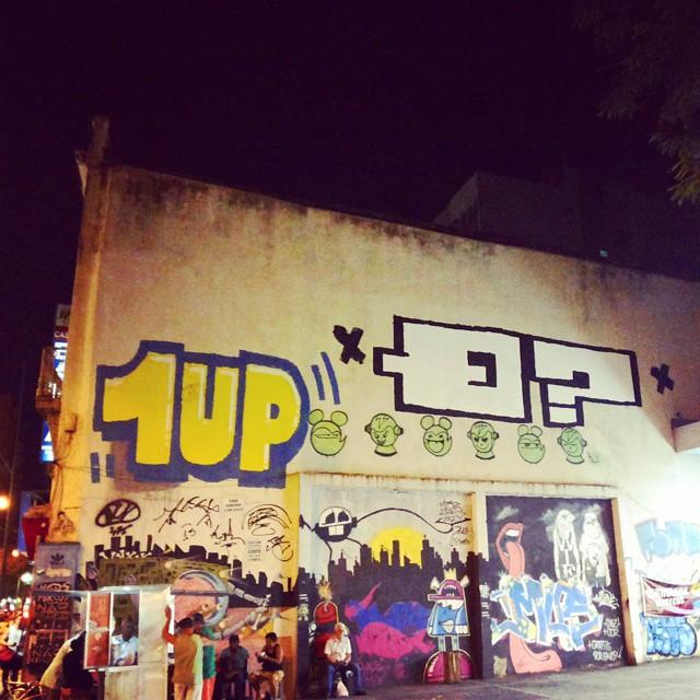 1Up, Q? e grande elenco. #streetart #streetartrio #grafite #graffiti #grafitti #urbanart #qpasa #qpasacrew #1up #largodomachado #riodejaneiro
