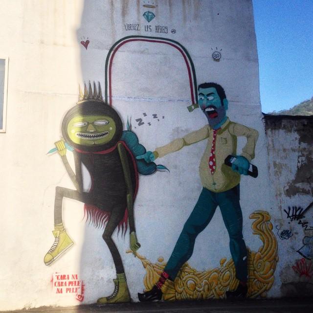 Art by @cazesawaya & @nhobigraffiti #graffiti #streetart #streetartrio #urbanart #nofilter #barbudinhoo #tijuca #riodejanerio #brazil