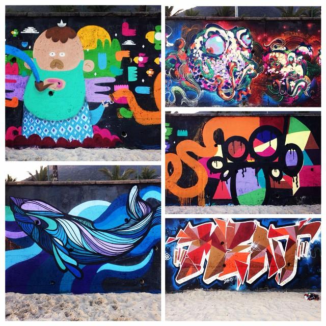 Beach graffiti! #instagraffiti #villas #vibe #riodejaneirostreetart #streetartrio #streetart #graffiti #beach #sun #fun