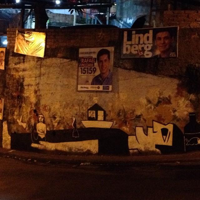 Com @derlon é preto no branco e vice-versa. Deitado na ladeira, Vidigal!!! #streetartrio #artrua #pernambuco #vidigal #cordel
