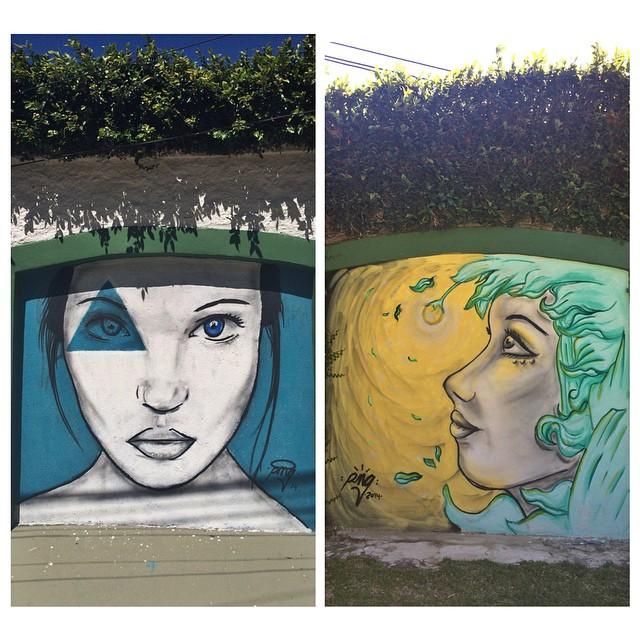 Garagem de casa acabou virando uma tela  #streetartrio #graffitiart #pngone @instagrafite